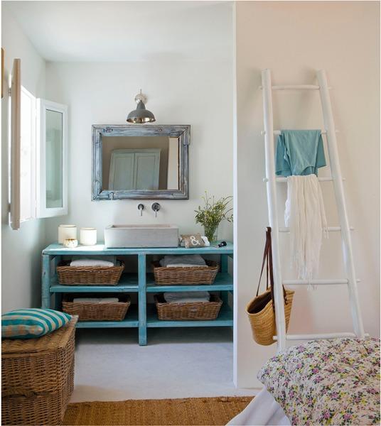 Foto ba o blanco y azul de miv interiores 908118 - Banos en azul y blanco ...