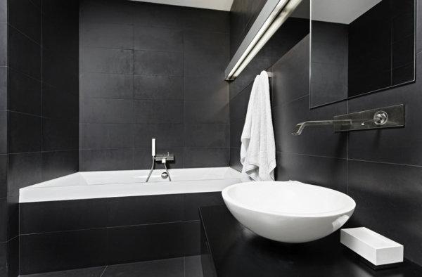 Foto ba o sin luz y en color negro de marta 995353 for Bano de color negro