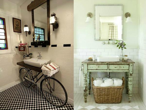 Foto ba o vintage y con bici de anna gaya 830147 habitissimo - Banos estilo vintage ...