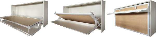Foto cama abatible horizontal de 135 x 190 c escritorio de muebblex 1212238 habitissimo - Camas abatibles 135 ...