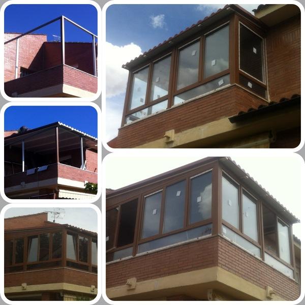 Foto cerramiento terraza con cubierta panel sandwich de for Cerramientos aluminio precios