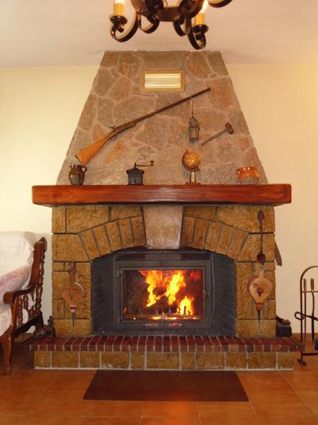 Foto chimenea r stica de piedra natural de chimeneas - Piedras para chimeneas ...