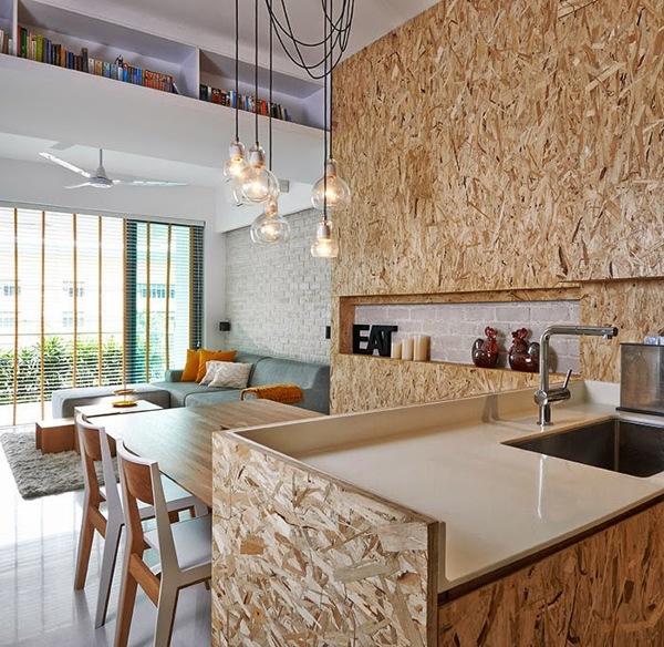 Foto cocina con tableros osb de irene villaverde - Tableros de cocina ...