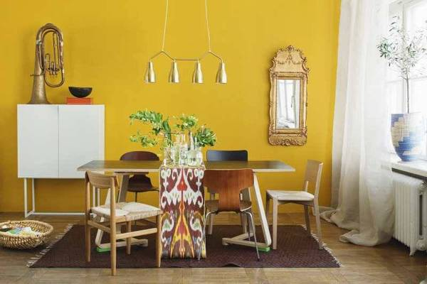 ideas de sala de estar marrón y amarillo Pinta Tu Casa Segn La Psicologa Del Color Ideas Decoradores