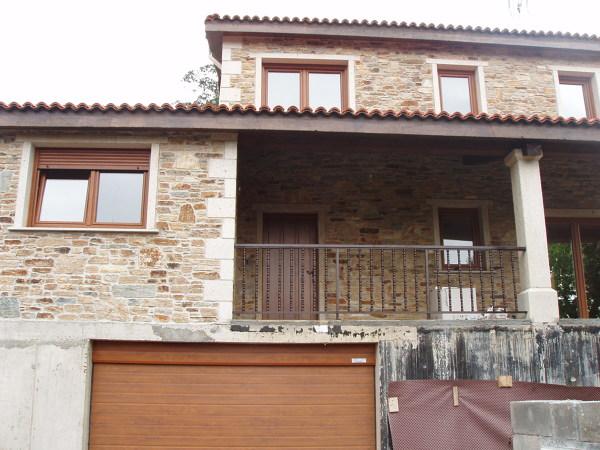 Foto construcci n de casa r stica en a coru a de acasa - Casas prefabricadas a coruna ...