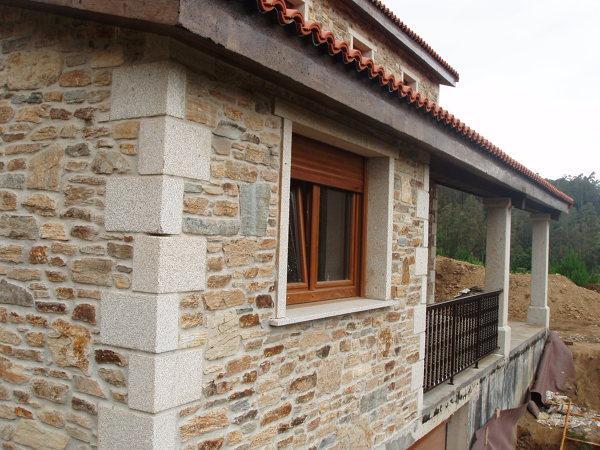 Foto construcci n de casa r stica en a coru a de acasa - Casas prefabricadas coruna ...
