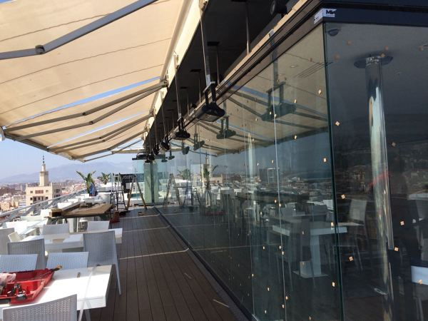 Terraza Restaurante ático Hotel Ac Málaga Palacio Ideas