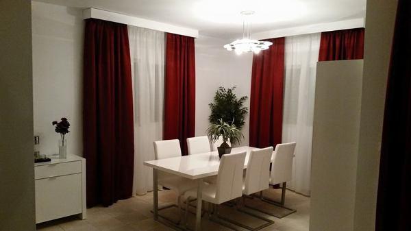 Foto cortinas con visillos y galeria de aluminio lacada for Cortina visillo blanco