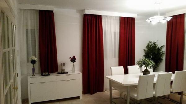 Foto cortinas con visillos y galeria de aluminio lacadas en blanco de cortinas maestre house - Visillos y cortinas ...