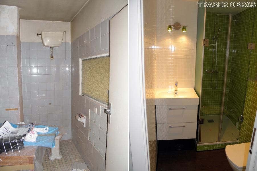 Foto cuarto de ba o antes y despu s de traber obras sl - Hay pintura para azulejos ...