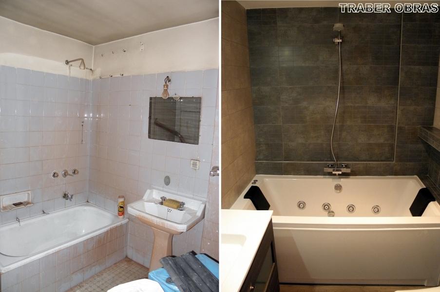 Foto cuarto de ba o antes y despu s de traber obras sl 154151 habitissimo - Pintar azulejos de bano antes y despues ...