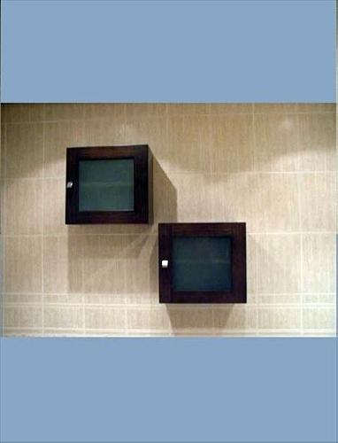 Botiquines Para Baño Color Wengue:Foto: Cubos en Color Wengue con Cristal Mate de Muebles De Baño Jara