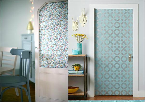 Foto decorar con papel pintado de anna gaya 838033 for Papel para forrar puertas