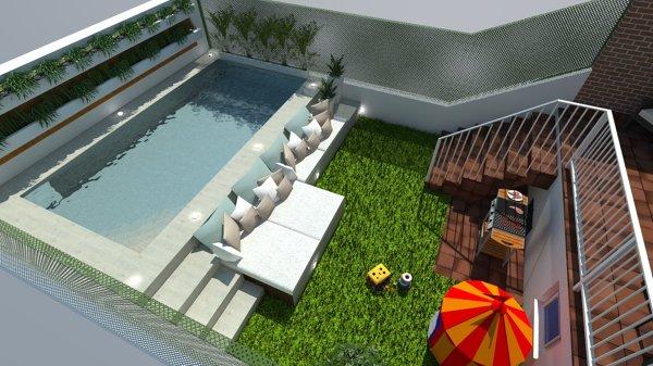 Foto dise o 3d de piscina y jard n de ardigral 1277233 for Programa diseno de piscinas 3d gratis