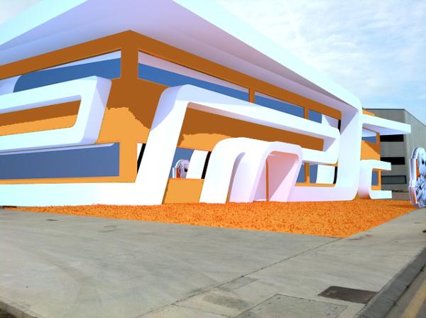 Foto dise o exterior para nave industrial arquitectura - Naves industriales de diseno ...