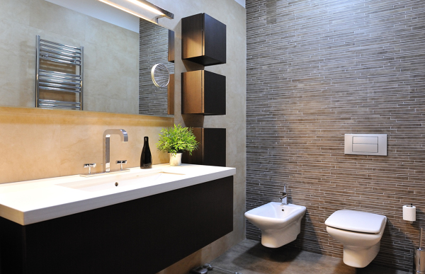 Foto dise os sencillos y actuales de azulejos calixto for Modelos de banos modernos para casa
