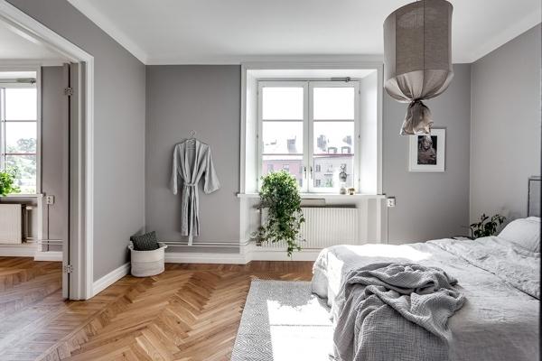 Foto dormitorio con paredes grises de miv interiores - Colores pared dormitorio ...