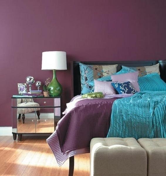 dormitorio en morado