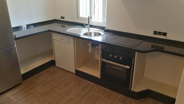 Foto: Encimera de Granito Negro Zimbawe para Cocina y Mueble de ...