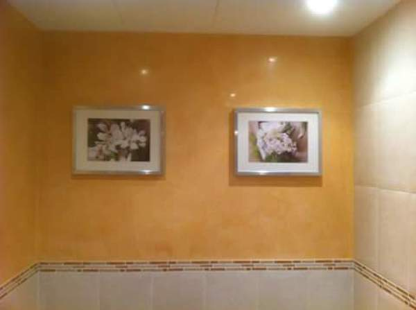 Foto estuco en pared de ba o de mundilaca 1097322 for Estuco para banos
