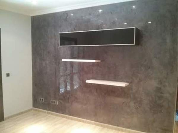 Foto estuco en pared sal n comedor de mundilaca 1097321 habitissimo - Fotos de estuco ...