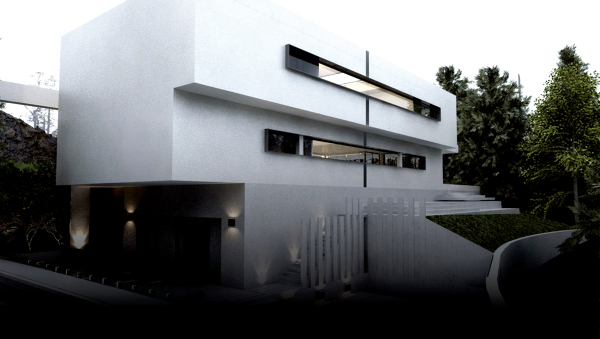 fachada monocapa SATE blanca de morteros de cal.