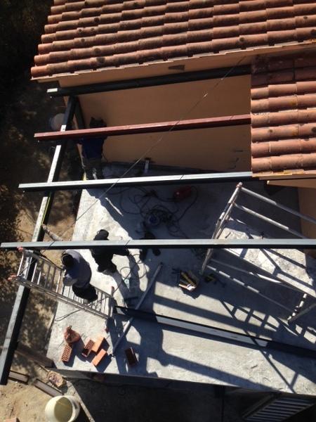 Foto fijacion pilares de hierro de dayo decoraci n y reformas 965150 habitissimo - Pilares de hierro ...