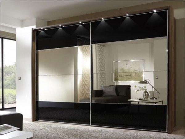 Foto frente de armario con espejos e iluminaci n de for Espejos para armarios