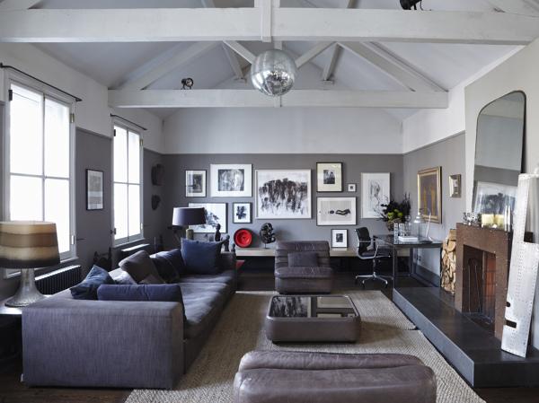 gris en casa rústica