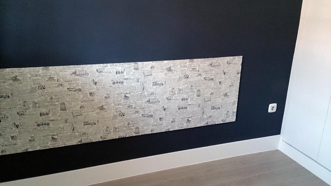Foto habitacion pintura lisa lacas papel pintado de arianto decoracion 424186 habitissimo - Habitacion con papel pintado ...
