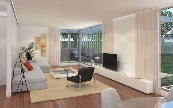 Foto infograf a interior vivienda de cottage architects for Vivienda interior