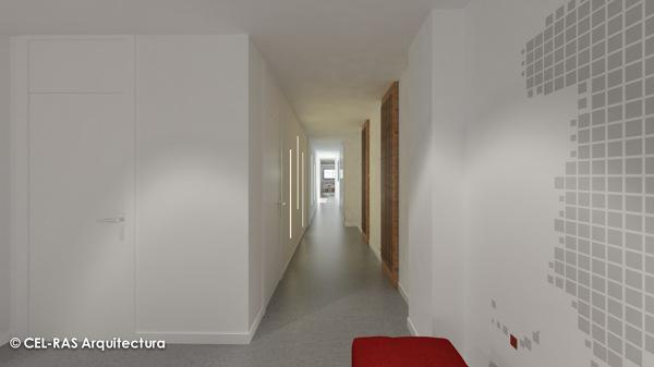 Foto infograf a proyecto de interiorismo de cel ras for Arquitectura interior sl