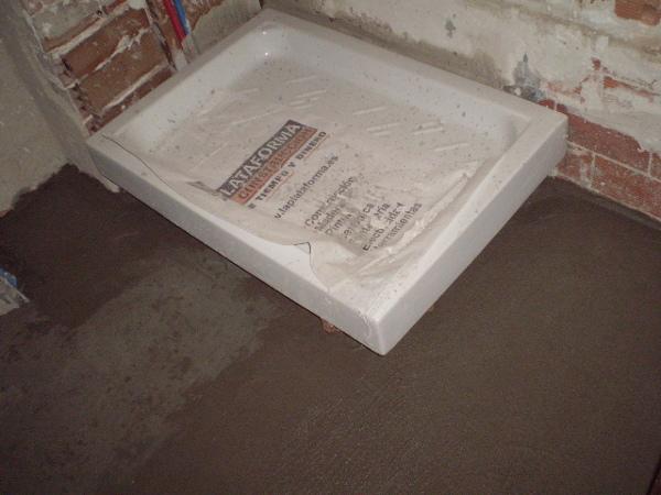 Foto instalacion de plato de ducha y nivelacion de suelo - Instalacion de plato de ducha ...