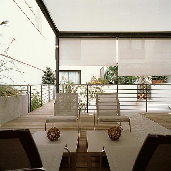 Foto intimidad terraza superior toldos horizontales y for Toldos verticales precios