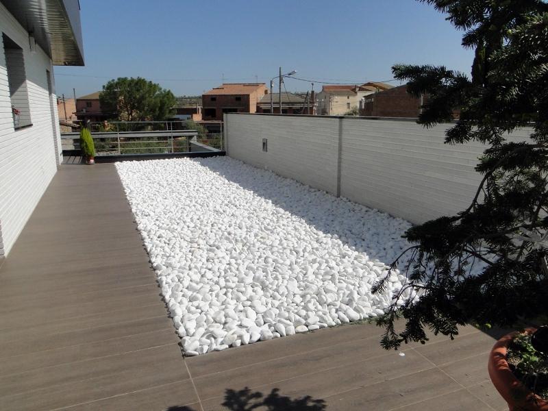 Foto jardin con piedra decorativa de berges centro for Disenos de jardines con piedras decorativas