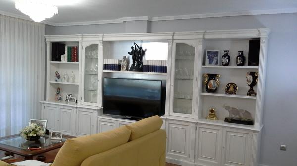 Foto libreria antigua restaurada en blanco envejecido de v g fijaciones de madera 1267577 - Muebles blanco envejecido ...