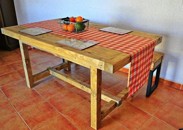 Mesa de Madera Artesanal | Ideas Carpinteros