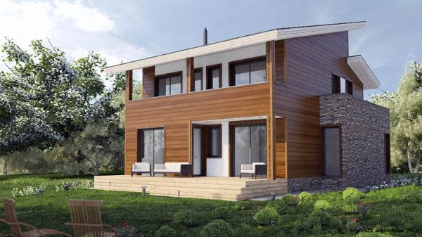 Foto mh228 casa de madera bioclim tica de mhelorza - Casas bioclimaticas prefabricadas ...