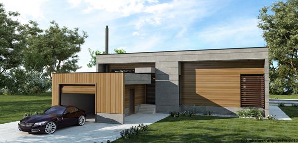 MH95 Casa de madera bioclimática