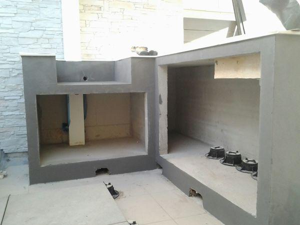 Foto microcemento mueble para barbacoa de servicios - Barbacoas exteriores de obra ...