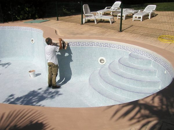 Foto microcementos en piedra borde piscinas de cubiertas - Como hacer microcemento ...