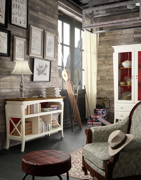 Foto mueble auxiliar separador de ambientes de carmen - Muebles separadores de espacios ...