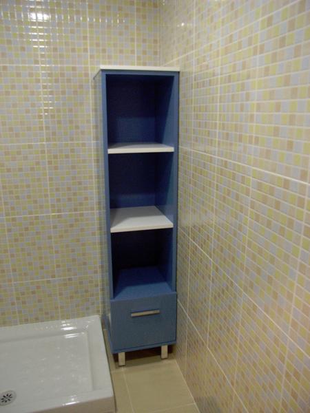 Foto mueble columna con estanterias de muebles de ba o - Mueble columna bano ...
