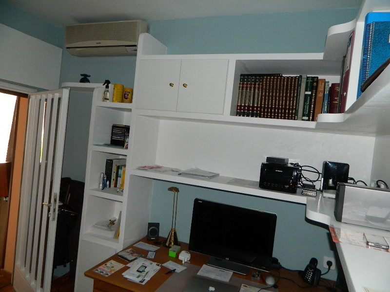 Foto mueble de de reformas - Muebles de escayola para el salon ...