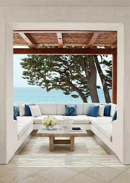 Foto muebles de obra porche de miriam mart 1174573 - Muebles para porche ...