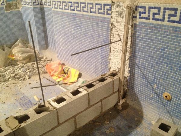 Foto muro de bloques armado de mg2 construcciones y - Muro de bloques ...