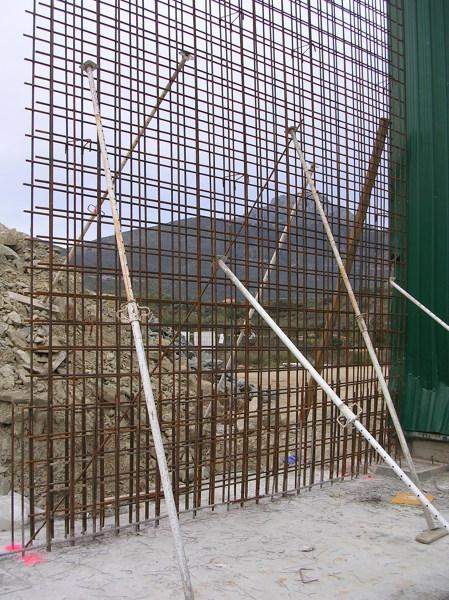 Muro de hormigón.