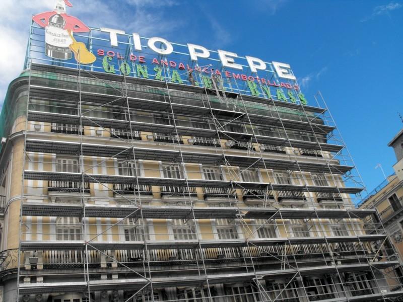 Foto obra acondicionamiento estructural edificio puerta for Edificio puerta real madrid