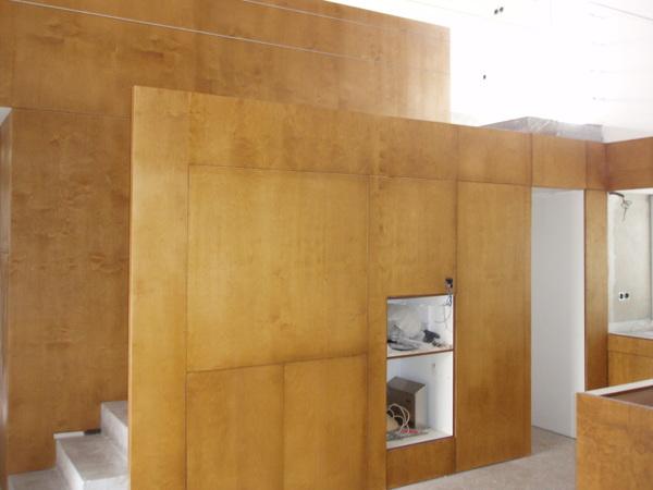 Foto Ocultamiento De Electrodomesticos En Panelado De Madera De - Panelado-madera
