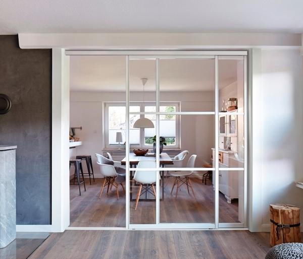 6 maneras de separar el sal n y la cocina ideas arquitectos - Glastrennwand wohnbereich ...